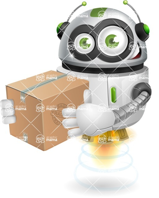robot vector cartoon character - robot vector cartoon character design postman delivery parcel