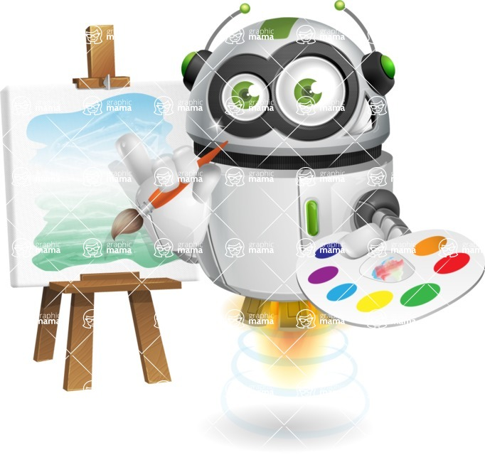 robot vector cartoon character - robot vector cartoon character design artist