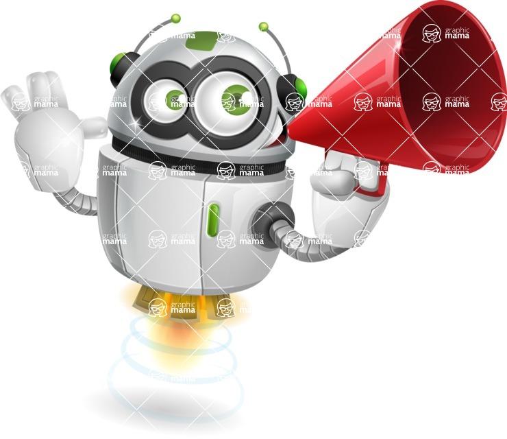 robot vector cartoon character - robot vector cartoon character design attention audience