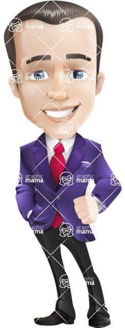 business vector cartoon character man graphic design ultra violet color 2018 - business vector cartoon character man graphic design ultra violet color 2018