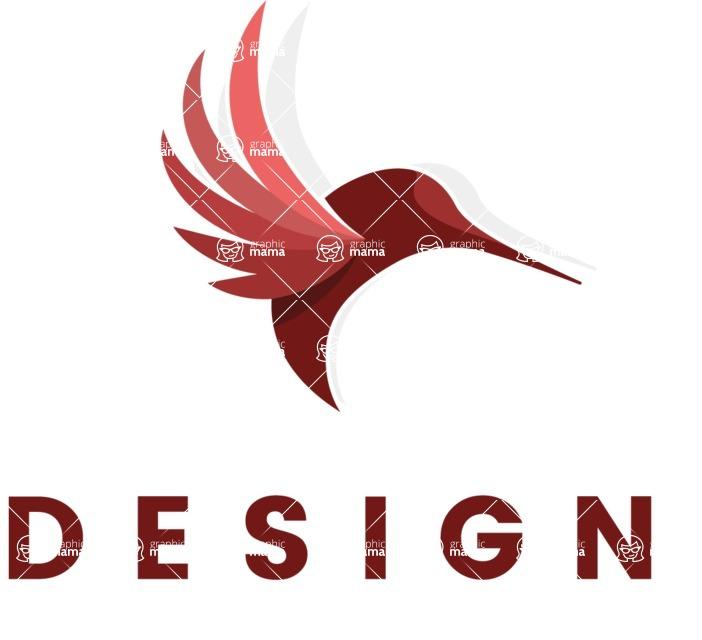 Business Logo Templates - vector graphics in a pack from GraphicMama - Business logo template from GraphicMama - animal bird colibri