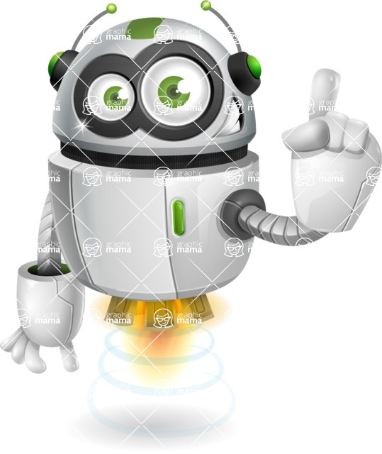 robot vector cartoon character - robot vector cartoon character design attention audience