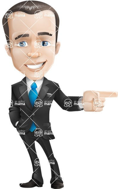 Vector Male Business Cartoon Character - businessman vector cartoon character graphic point