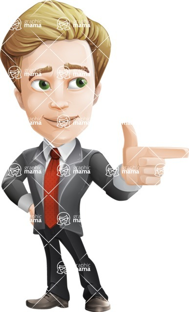 male cartoon character, elegant blond man vector - male cartoon character, elegant blond man vector point