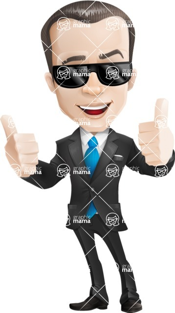 businessman vector cartoon character design modern look  - businessman vector cartoon character graphic modern look sunglasses