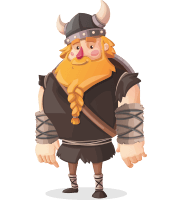 Big Male Viking Cartoon Vector Character AKA Torhild the Brave