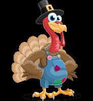 Thanksgiving Turkey Cartoon Vector Character AKA Mr. Turkey McFarm