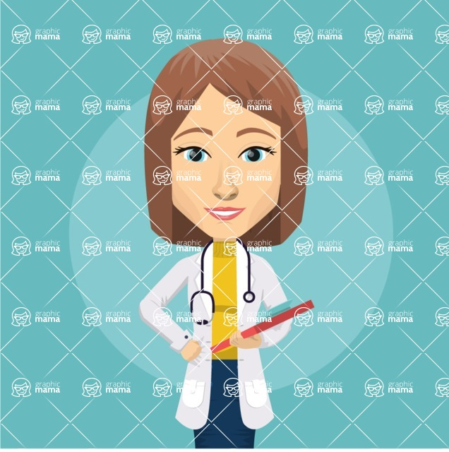 Medical Vectors - Mega bundle - Female Doctor Vector Illustration