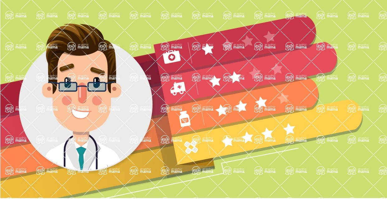 Medical Vectors - Mega bundle - Illustration of a Doctor with Rating