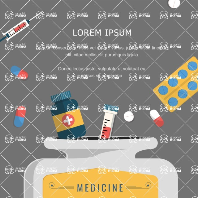 Medical Vectors - Mega bundle - Vector Medical Banner with Pills