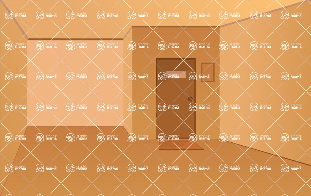 Room Backgrounds Vector Collection Design Bundle / Empty
