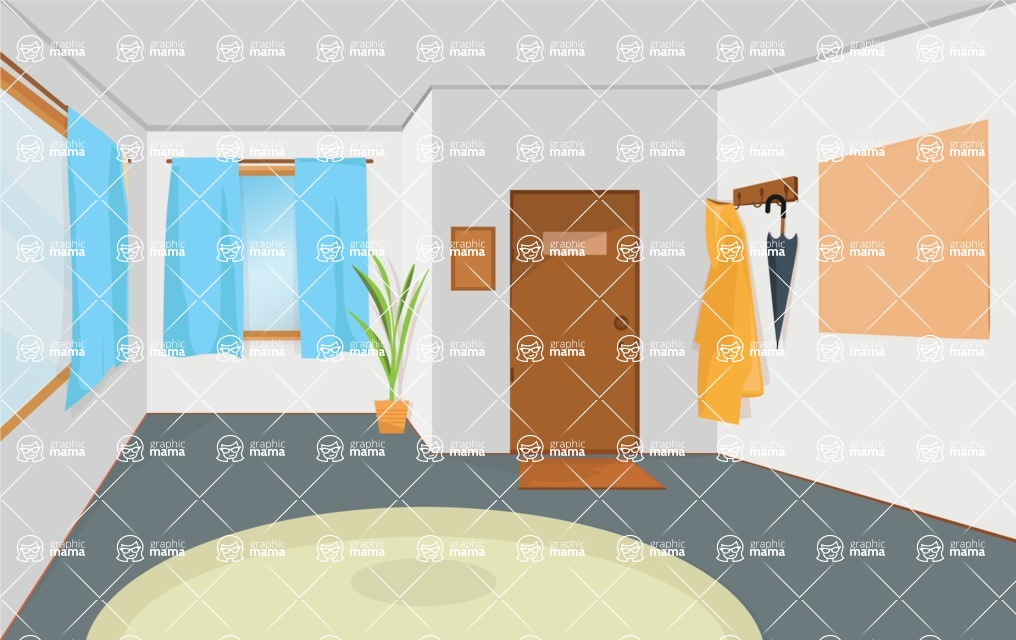 Room Backgrounds Vector Collection - Modern Room Vector Background