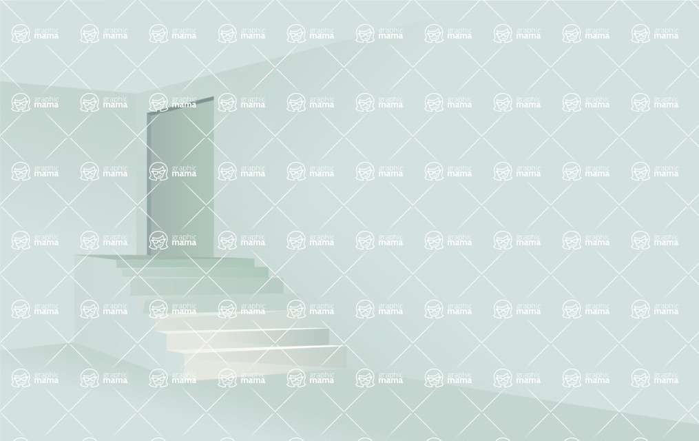 Room Backgrounds Vector Collection - Room with Stairs Vector Background