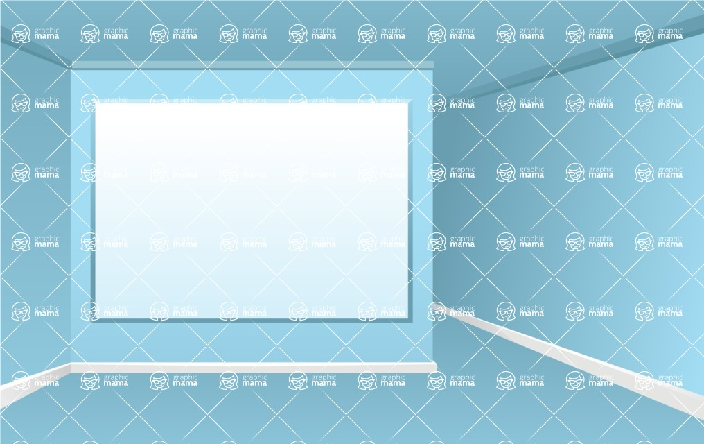 Room Backgrounds Vector Collection - Vector Room Background for Presentations