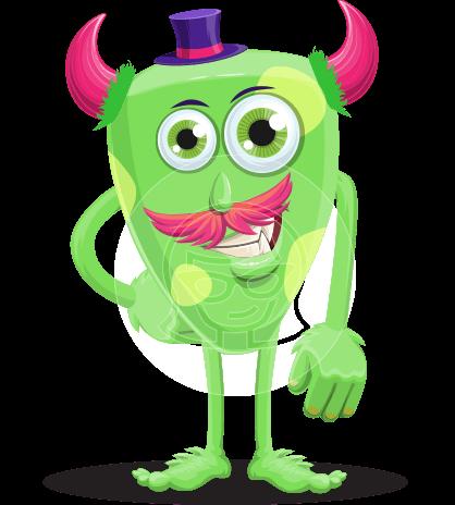 Cartoon Monster with Horns