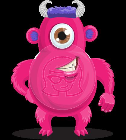 Cute Monster Cartoon Character
