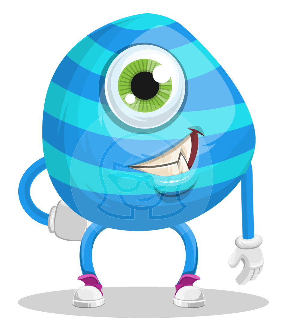 One Eyed Monster Cartoon Character Graphicmama