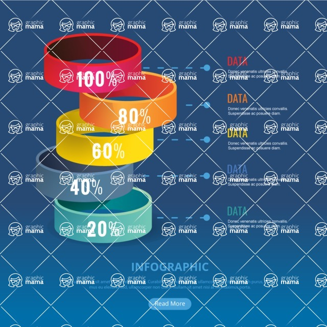 Infographic Template Collection - Infographic Template with 3D Circles