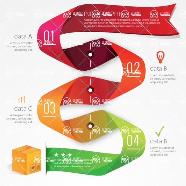 Infographic Template Collection - Realistic Infographic Template with Delivery Box