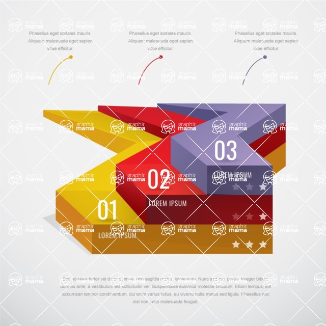 Infographic Template Collection - Vector Infographic Template with Simple 3D Style