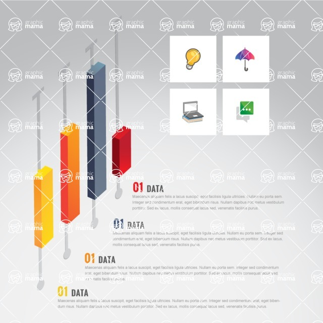 Infographic Template Collection - Creative Infographic Template with Isometric Sliders