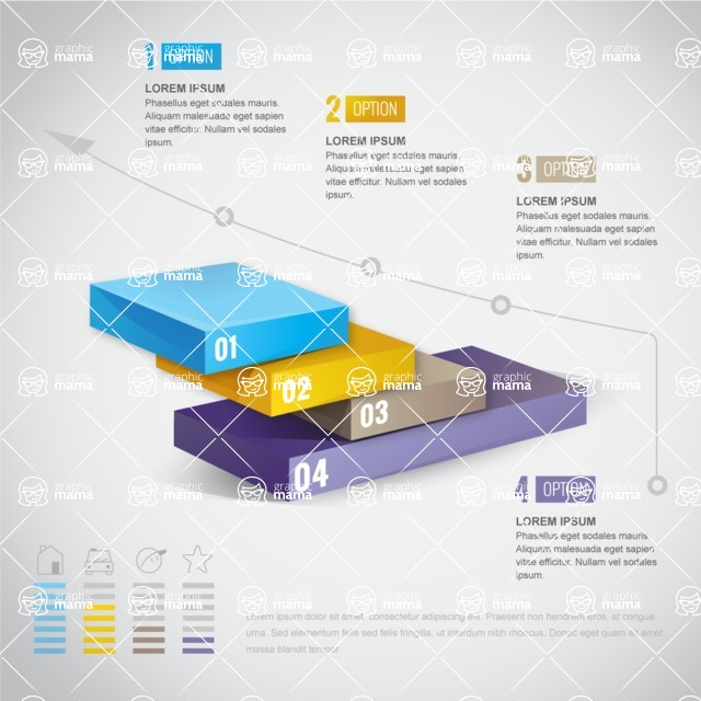 Infographic Templates Collection - Vector, Photoshop, PowerPoint, Google Slides - Business Infographic Template in 3D Style