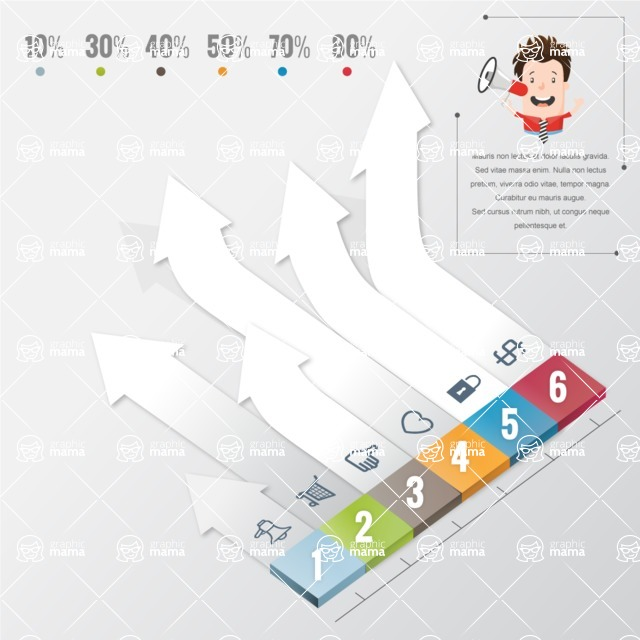 Infographic Template Collection - 3D Infographic Template Design With 6 Options