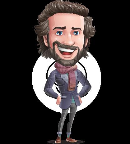 Stylish Man Character Animator Puppet