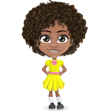 Curly African American Girl