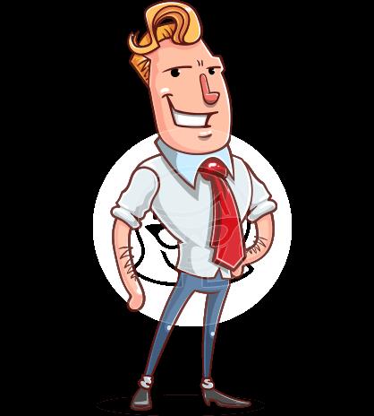 Cartoon Businessman Character Animator Puppet