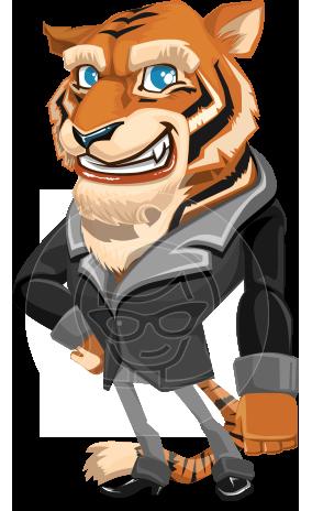 Cartoon Tiger Character Animator Puppet