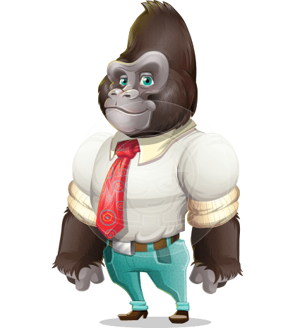 Business Gorilla Cartoon Vector Character