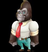 Business Gorilla Cartoon Vector Character