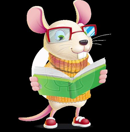 Cute Little Mouse Cartoon Character