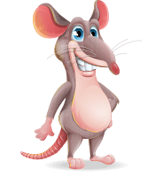 Cartoon Funny Mouse Vector Character