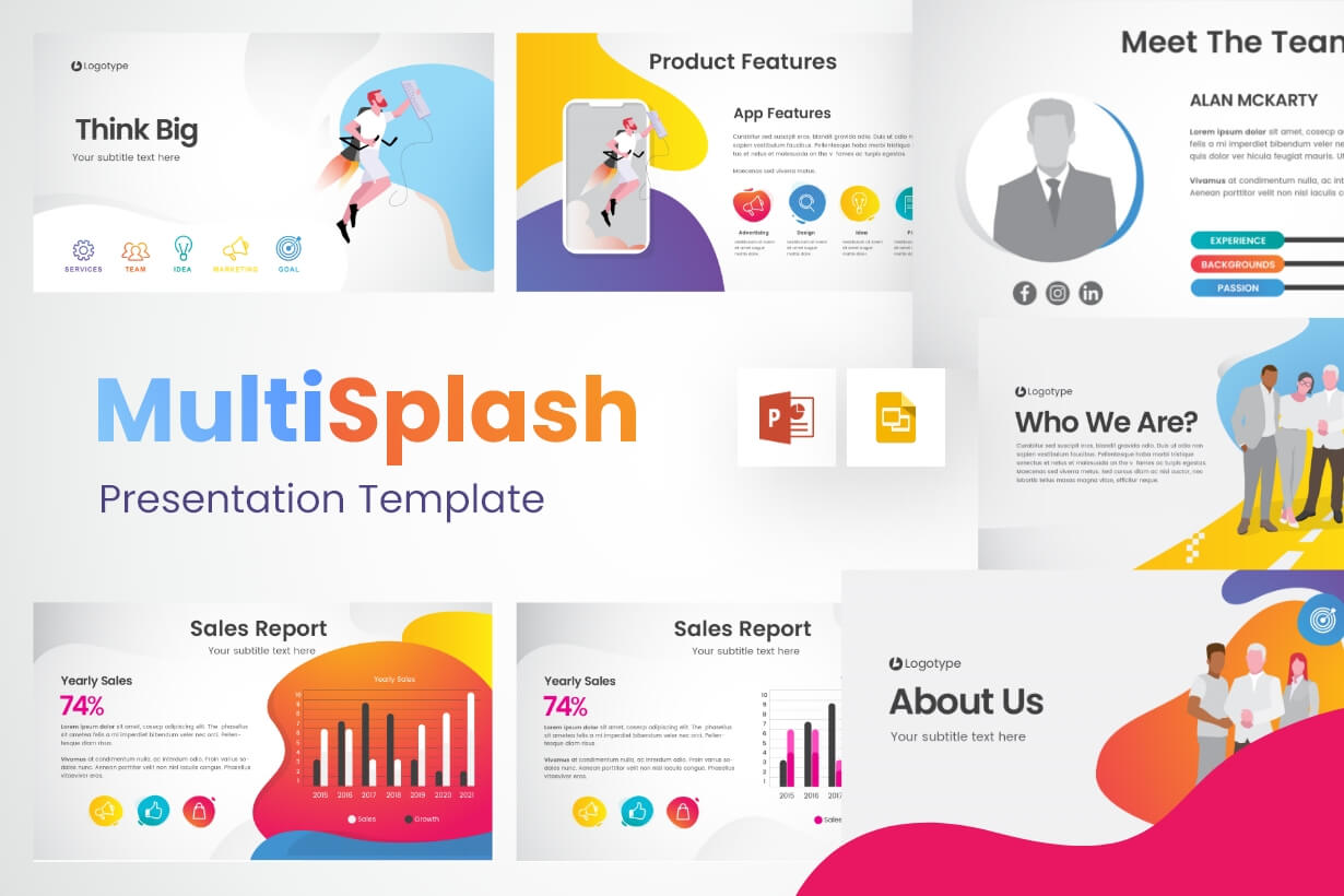 MultiSplash - Presentation Templates Collection for PowerPoint and Google Slides
