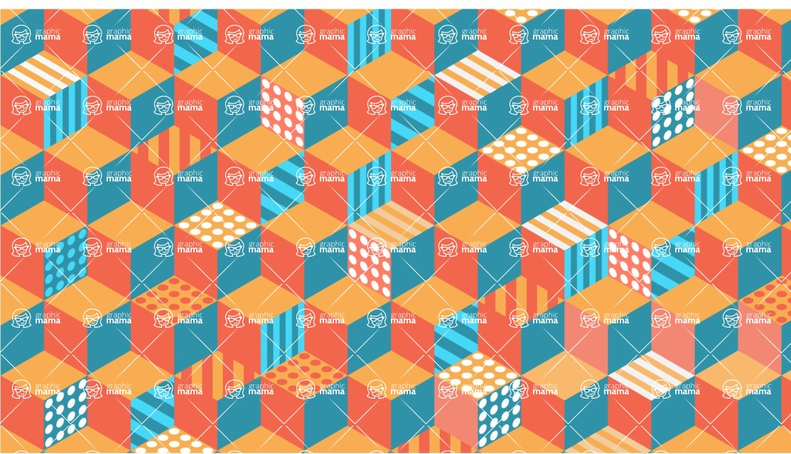 vector backgrounds - a rich collection (vector pack) of beautiful shapes and modern color palettes  - Isometric Cubes Vector Background
