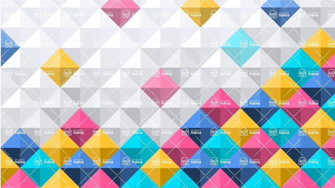 vector backgrounds - a rich collection (vector pack) of beautiful shapes and modern color palettes - Vector Background with Flat Squares