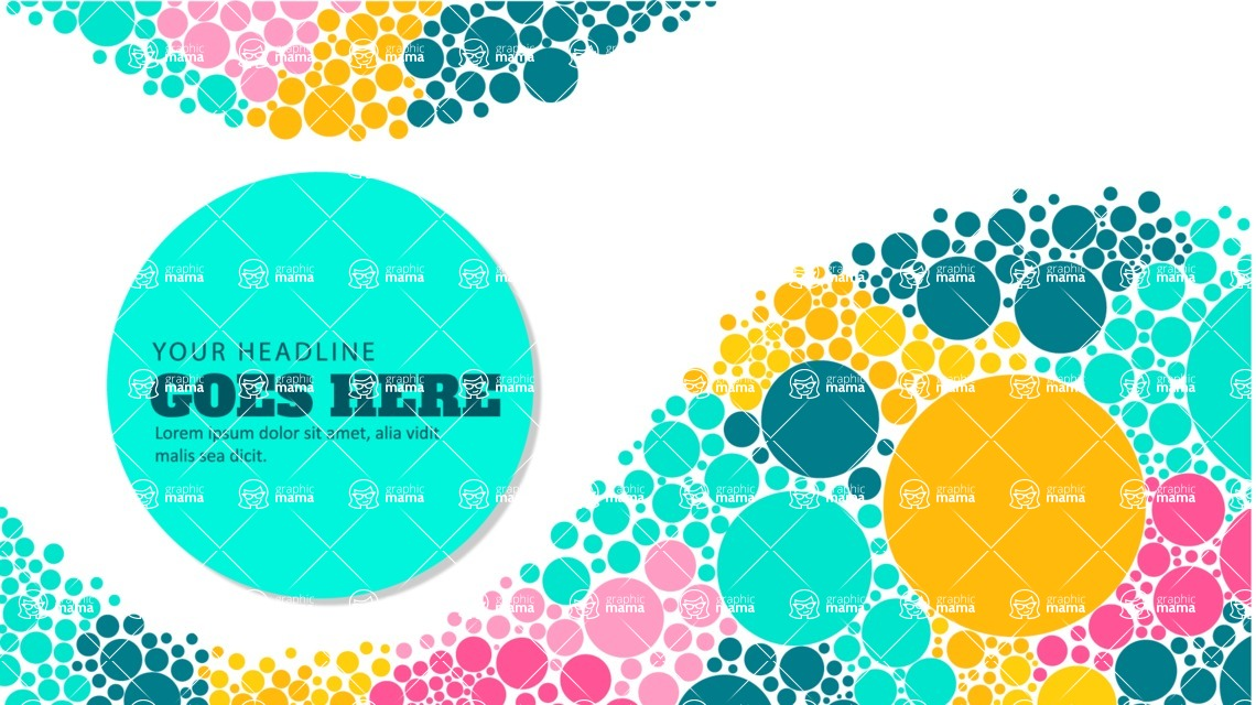 vector backgrounds - a rich collection (vector pack) of beautiful shapes and modern color palettes  - Colorful Vector Background with Circles