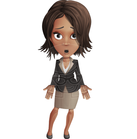 African-American Business Woman Character Animator Puppet