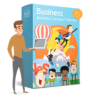 Vector Business Illustration Concepts Collection
