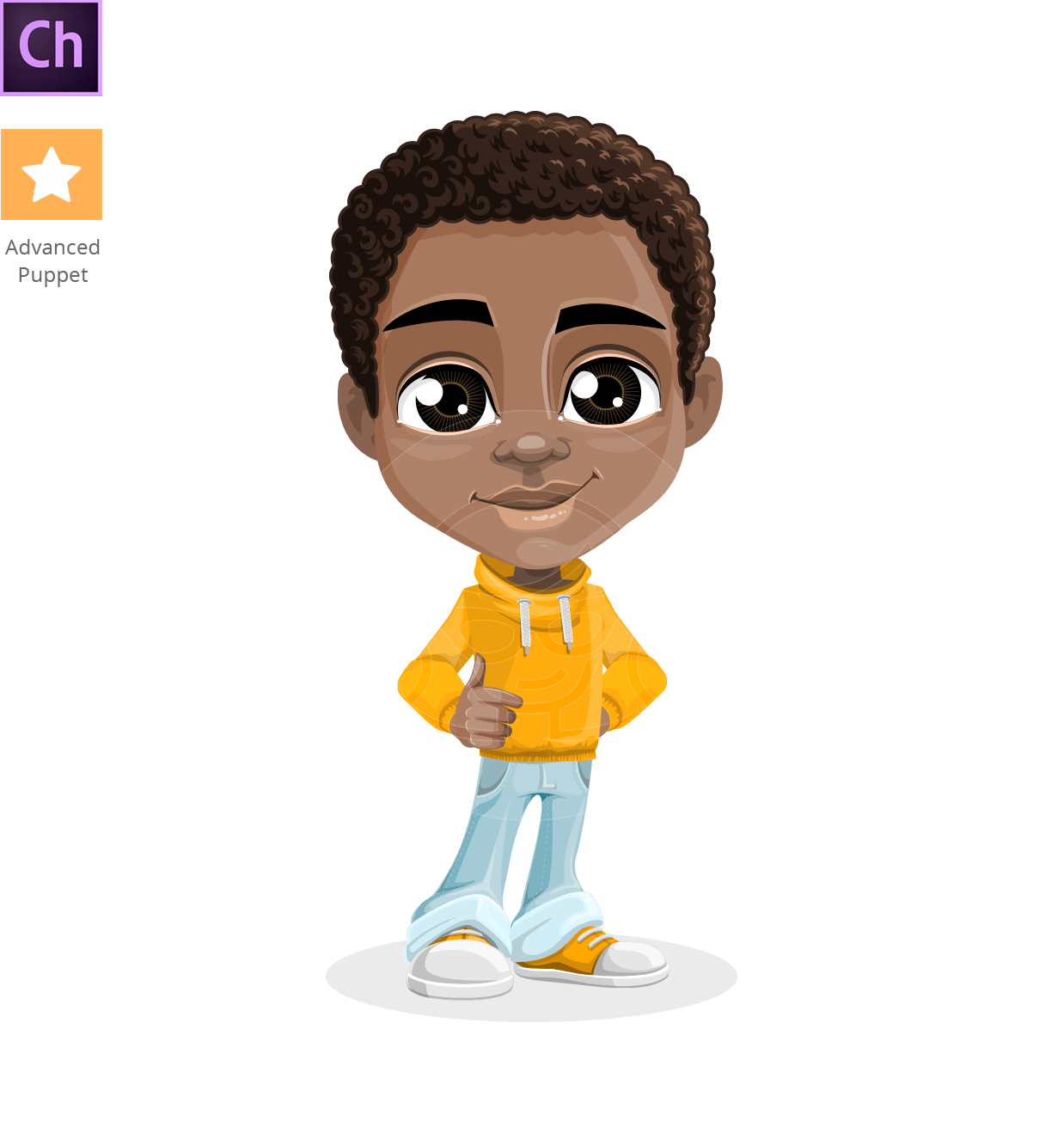 African-American Boy Adobe Character Animator Puppet