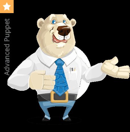 Polar bear character animator puppet
