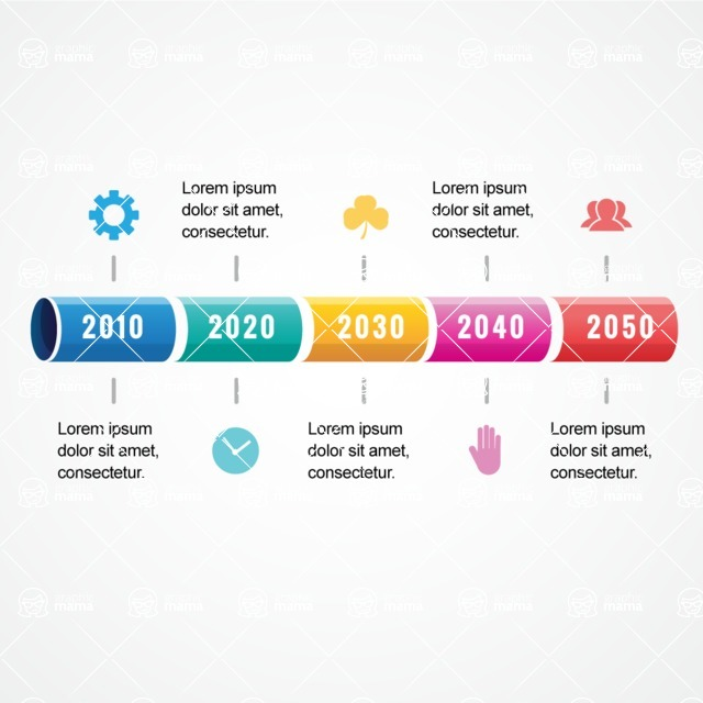 Infographic Templates Collection - Vector, Photoshop, PowerPoint, Google Slides - Milestones Graph Infographic Template