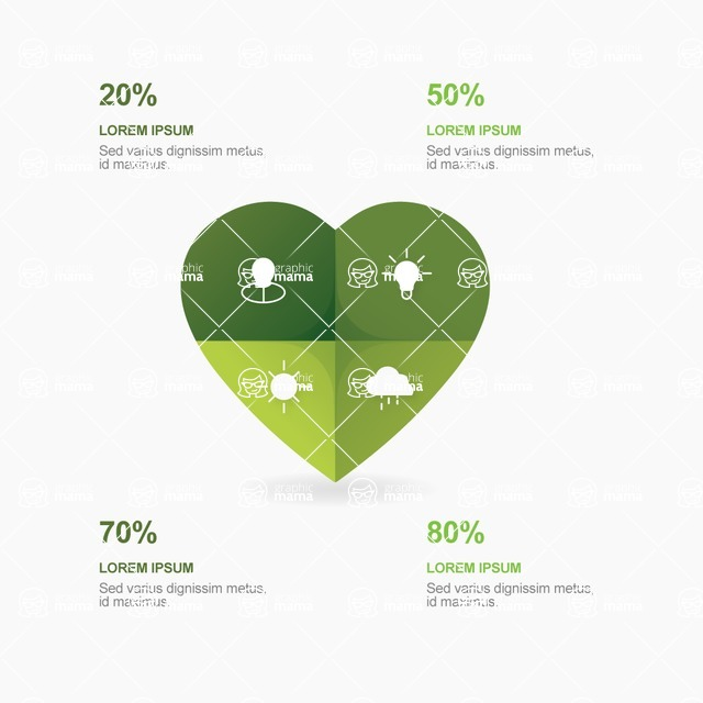 Infographic Template Collection - Love Ecology With Heart Infographic Template Design