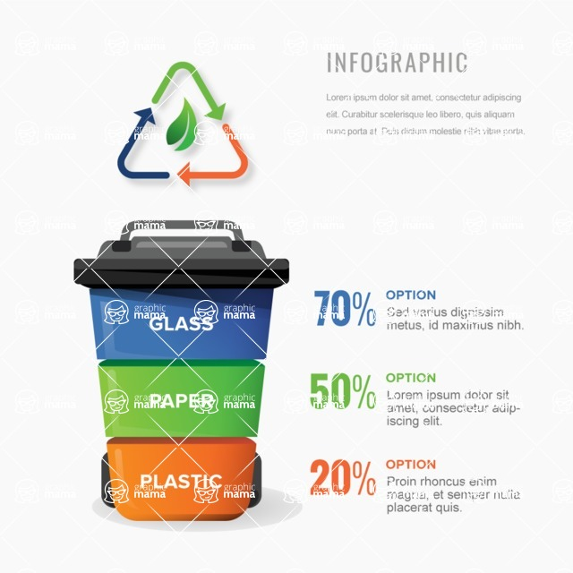 Infographic Templates Collection - Vector, Photoshop, PowerPoint, Google Slides - Recycling Infographic Template Design