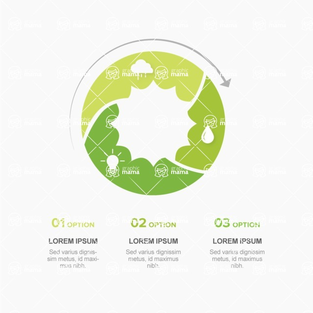 Infographic Templates Collection - Vector, Photoshop, PowerPoint, Google Slides - Vector Green Energy Infographic Design Template
