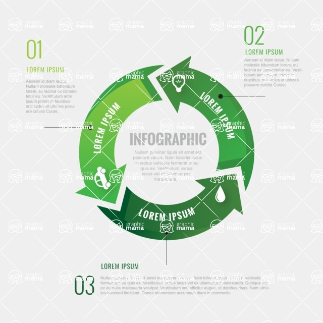 Infographic Templates Collection - Vector, Photoshop, PowerPoint, Google Slides - Vector Circle Ecology Infographic Template