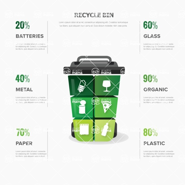 Infographic Template Collection - Separate Recycling Infographic Template Vector Design