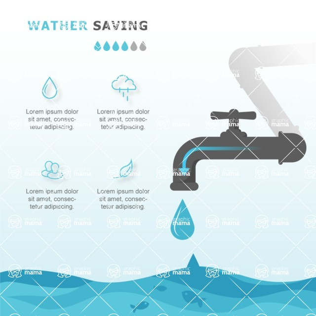Infographic Template Collection - Water Saving Infographic Template
